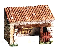 Stable without Base -– Étable No. 1 sans plateau - or Animal Shed - Size #1 / Cricket