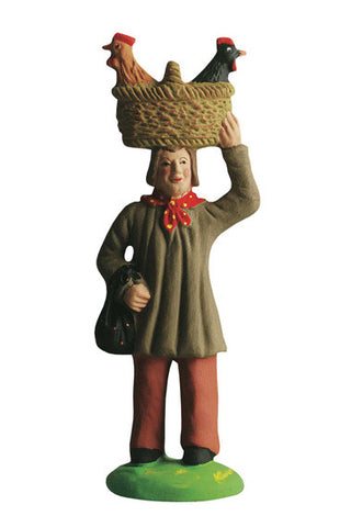 Man with Chickens - Homme aux poules - Size #3 / Grande