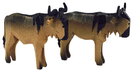 "Gnu, Pair of hand-carved - 1-3/8"" / Size Small"