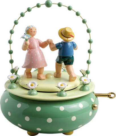 Two Dancers in the Garden / Wendt and Kühn 36 Note Music Box