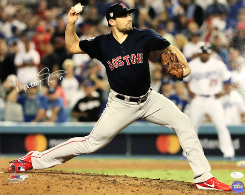 Nathan Eovaldi Boston Red Sox Signed Autographed World Series 16×20 Photo JSA