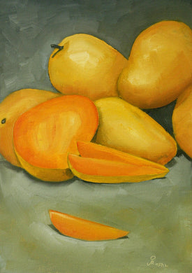 Oil painting of maongoes.