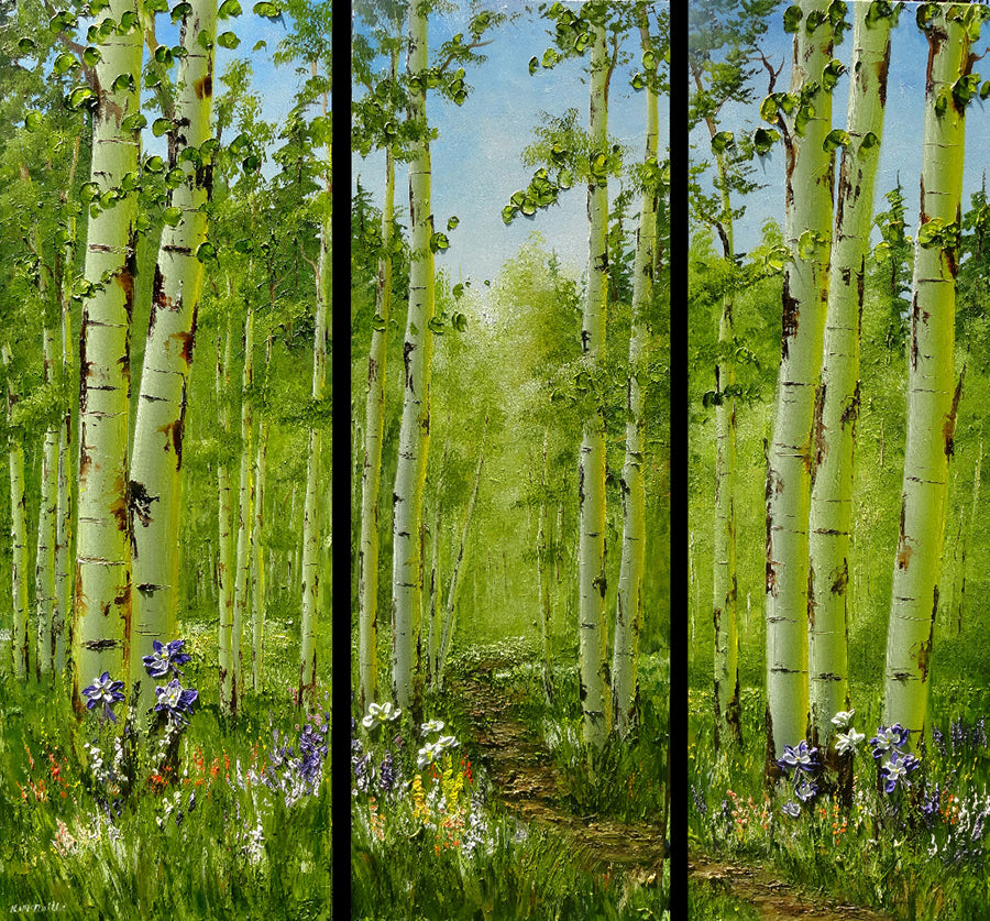 spring painting by artist katherine mcneill