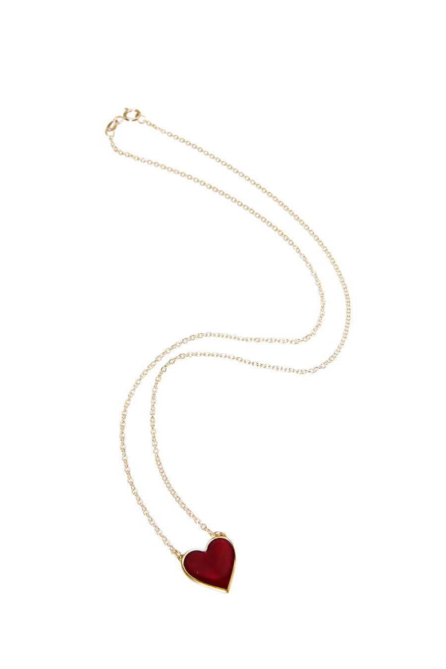 Bleeding Heart Necklace Solid Gold