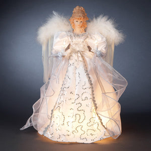 "14"" 10 Light White/Silver Angel Topper UL2161"
