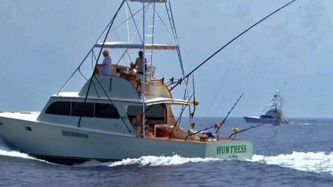 Huntress at sea