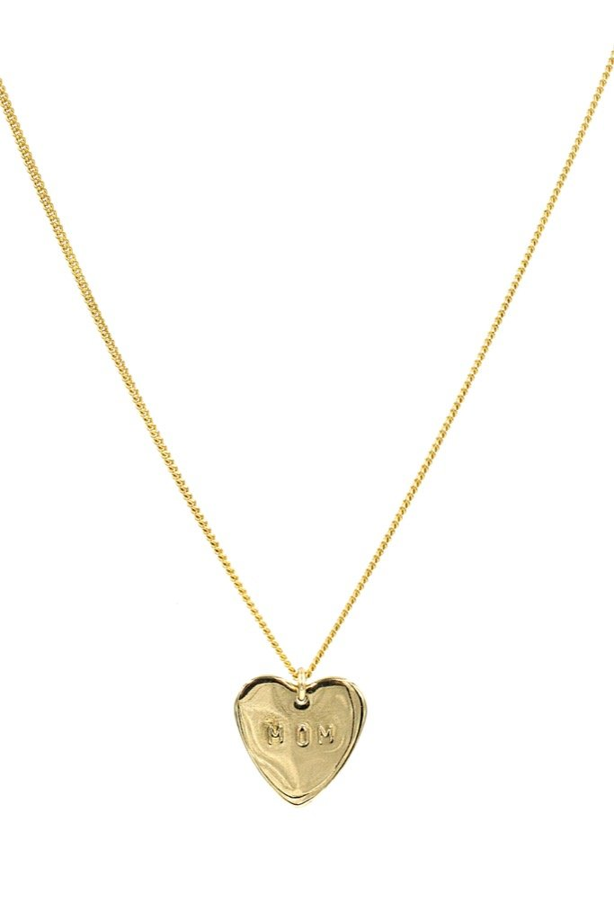Gold Mom Heart Necklace