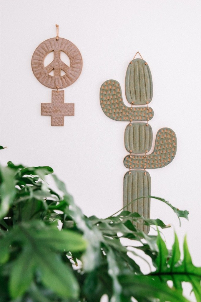 Green Saguaro Wall Hanging