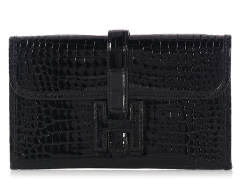Hermès Black Crocodile Mini Jigé
