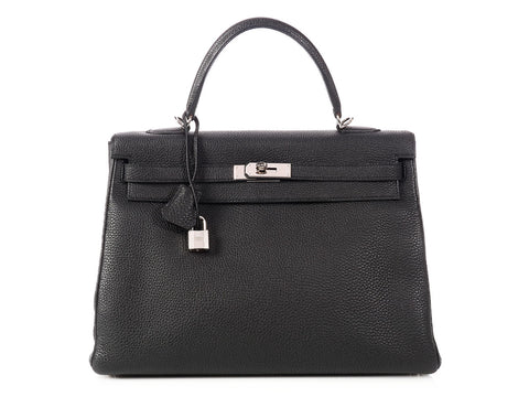Hermès Black Togo Kelly 35