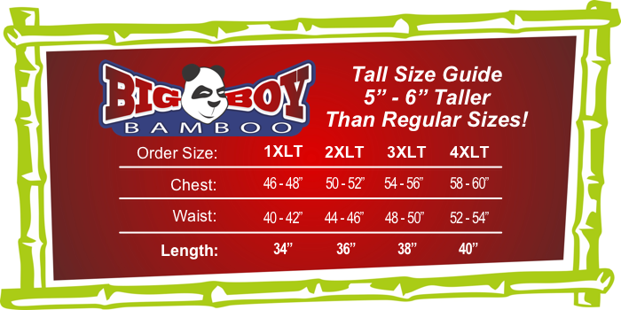 BigBoyBamboo Tall Size and Fit Guide