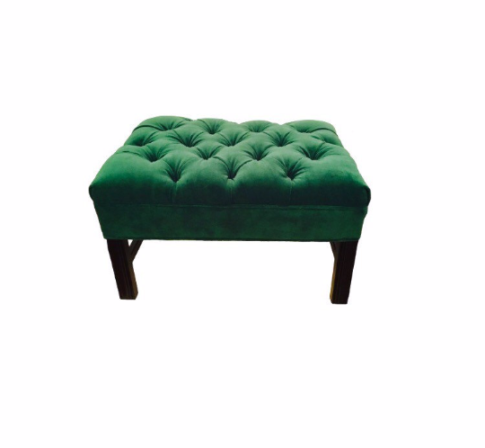 traditional tufted velvet ottoman modern home furnishing nursery decor