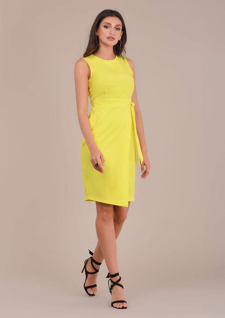 Reilly Yellow Wrap Dress