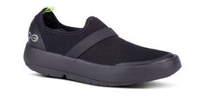 Women's OOmg Low Shoe - Black & Black - OOFOS