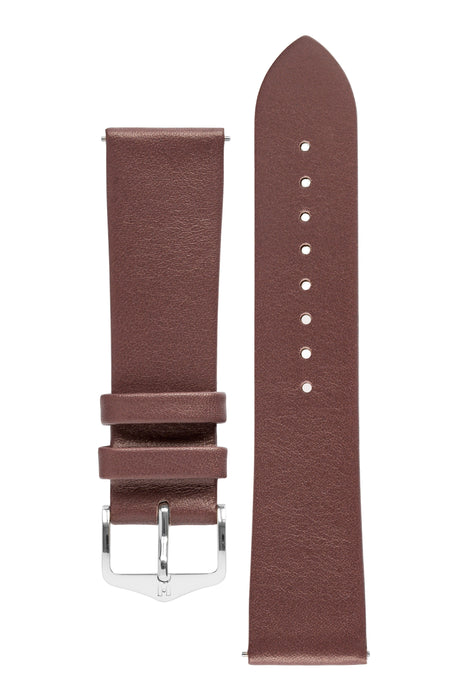 Hirsch VIAZZA Ladies Leather Quick-Release Watch Strap in TAUPE