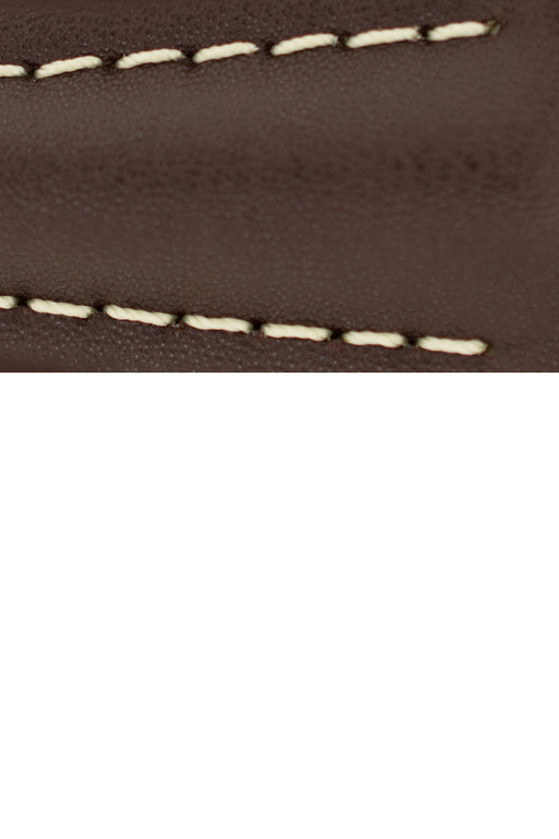 Hirsch NAVIGATOR Calfskin Leather Deployment Watch Strap in BROWN