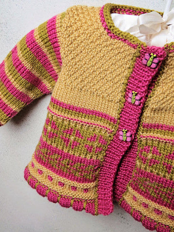 Baby Garden Cardigan Knitting Pattern | Knit One Crochet Too