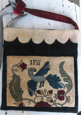 Fraktur Bird Sewing Bag | Punch Needle | Stacy Nash Primitives