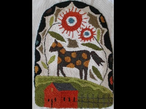 Horse on the Hill | Punch Needle Pattern | Notforgotten Farm