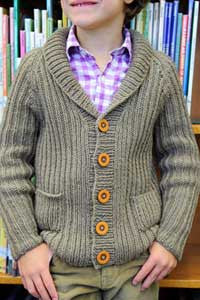 Library Cardigan Knitting Pattern | Tot Toppers