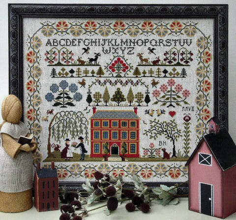 Red House Sampler | Cross Stitch | Sampler Company
