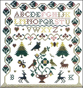 Woodland Sampler | Cross Stitch | Sampler Company