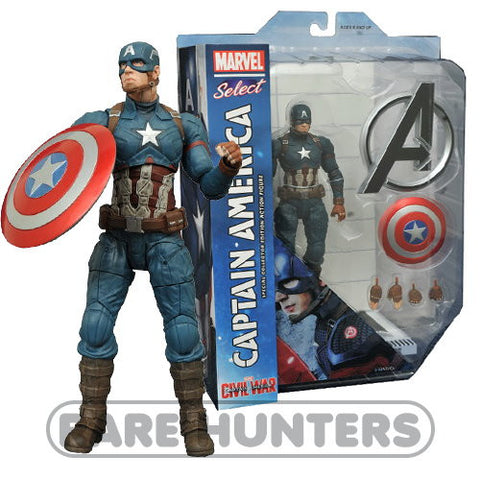 "Marvel Select Civil War Captain America 7"" Action Figure"