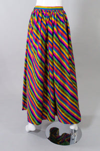 Anthony Muto Rainbow Striped Silk Skirt