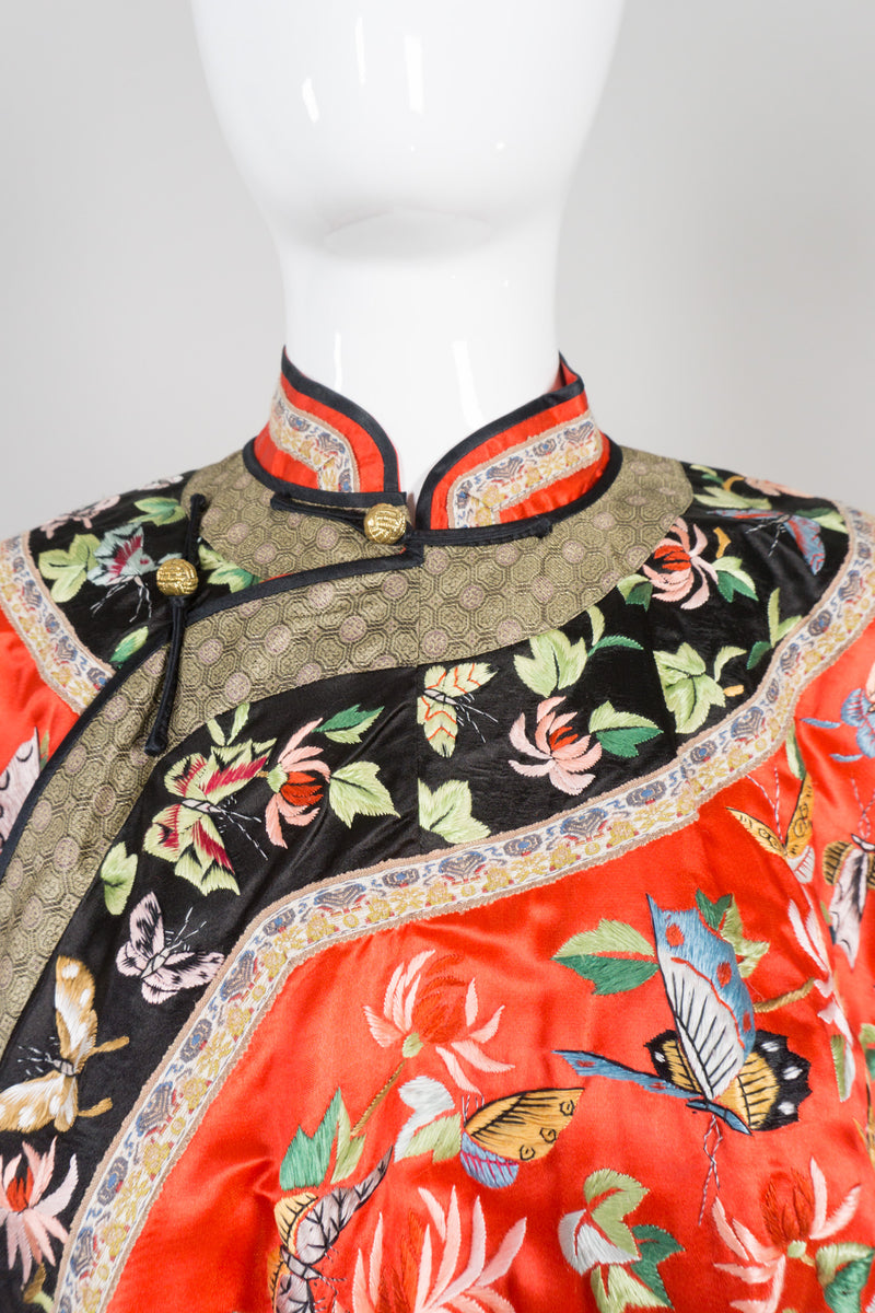 Vintage Chinese Rainbow Butterfly Embroidered Jacket