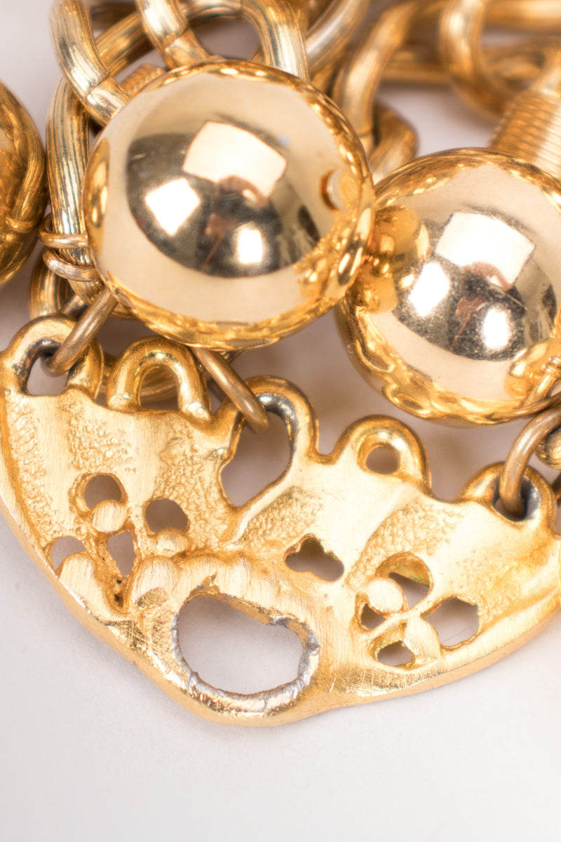 Prince Kamy Yar Shiny Gold Ball Collar Necklace