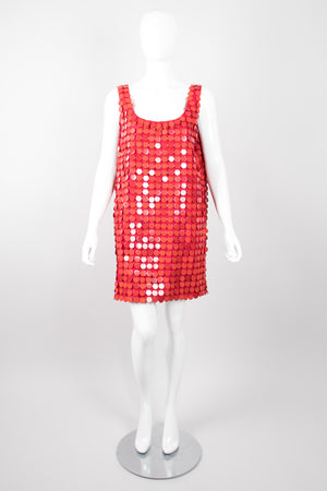 Michael Kors Vintage Bingo Acrylic Disco Shimmy Dress