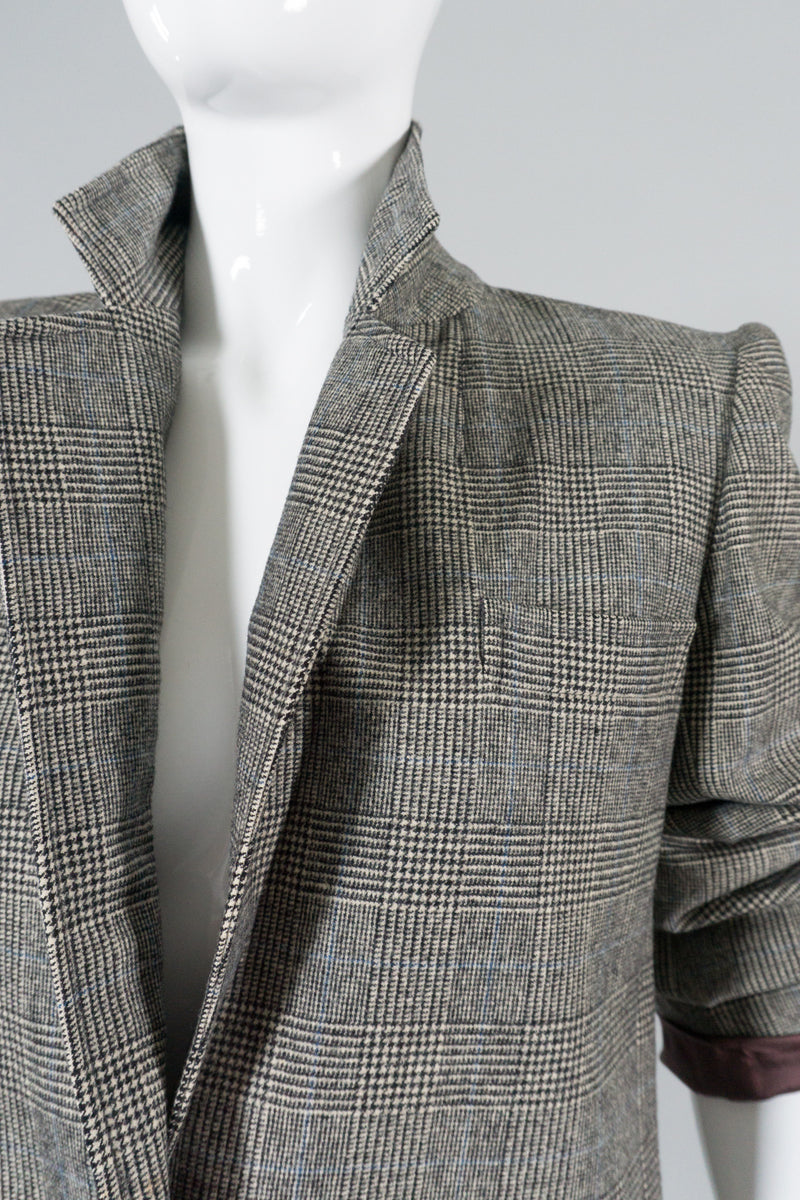 Saint Laurent Rive Gauche Glen Plaid Jacket