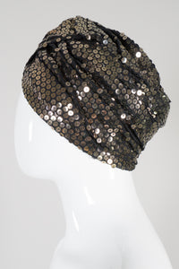 Armand Beverly Hills Vintage Bronze Gold Sequined Turban