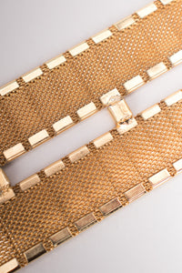 William de Lillo Gold Metal Snakeskin Hematite Belt