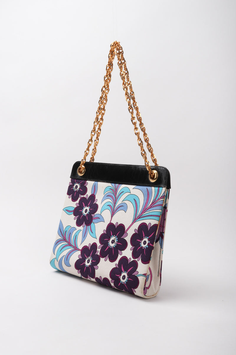 Recess Los Angeles Vintage Emilio Pucci Rare Floral Chain Bag