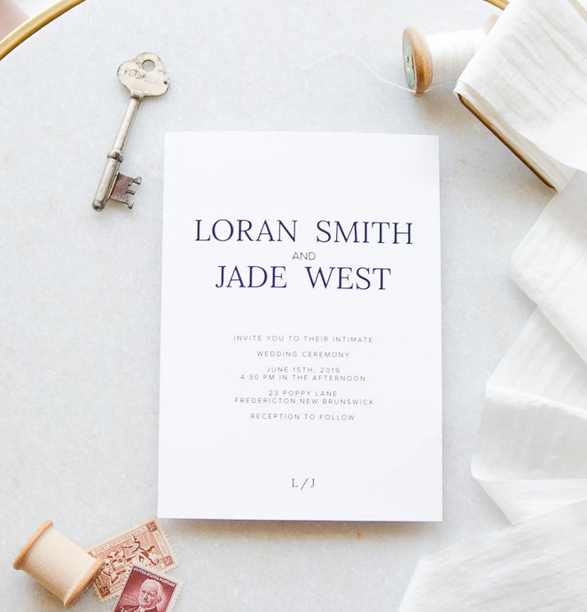 The Loran Collection - Wedding Invitation