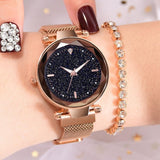 Ladies Star Magnetic Waterproof Wrist-watch