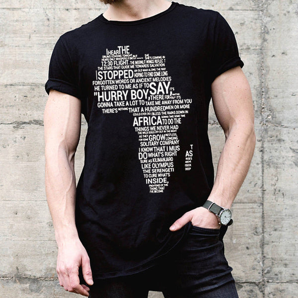 African Fashion Black Cotton Cool Casual pride T-Shirt