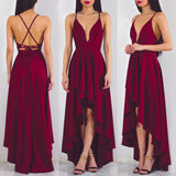 Ladies Evening Party Deep V Neck Backless Long Maxi Dresses