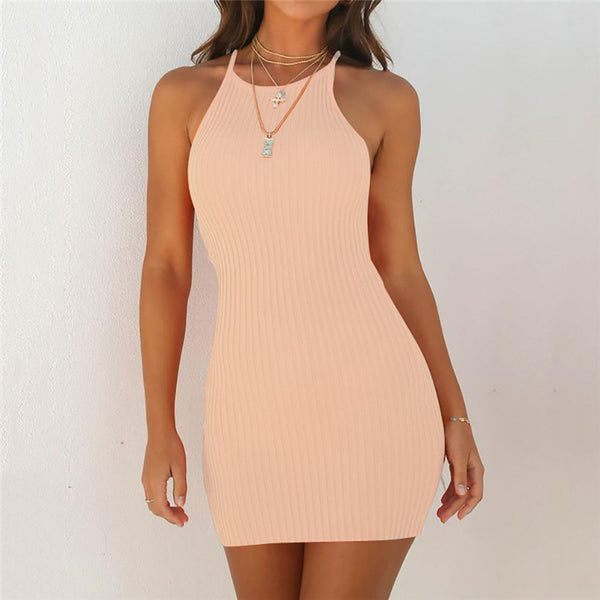 Women Summer Sexy Fashion Sleeveless Mini Dress