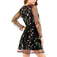 Women's Fashion Elegant Summer Floral Double Layer Mini Party Dress