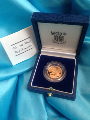 Picture of Elizabeth II 1984 Gold Proof Half Sovereign