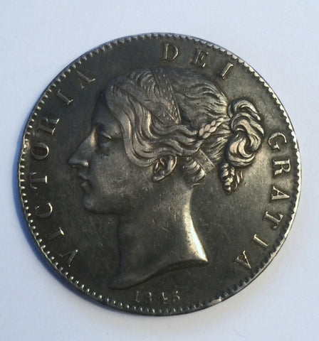Picture of 1845 Young head Silver Crown/ cinquefoil stops