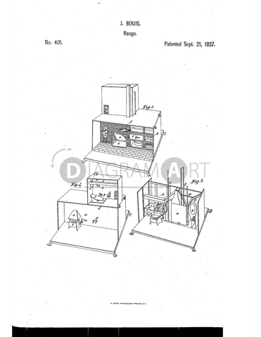USPTO Patent_0000401 , Free Sketch - Diagramart Author, DiagramArt