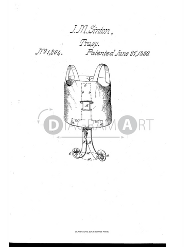 USPTO Patent_0001204 , Free Sketch - Diagramart Author, DiagramArt