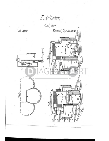 USPTO Patent_0001330 , Free Sketch - Diagramart Author, DiagramArt