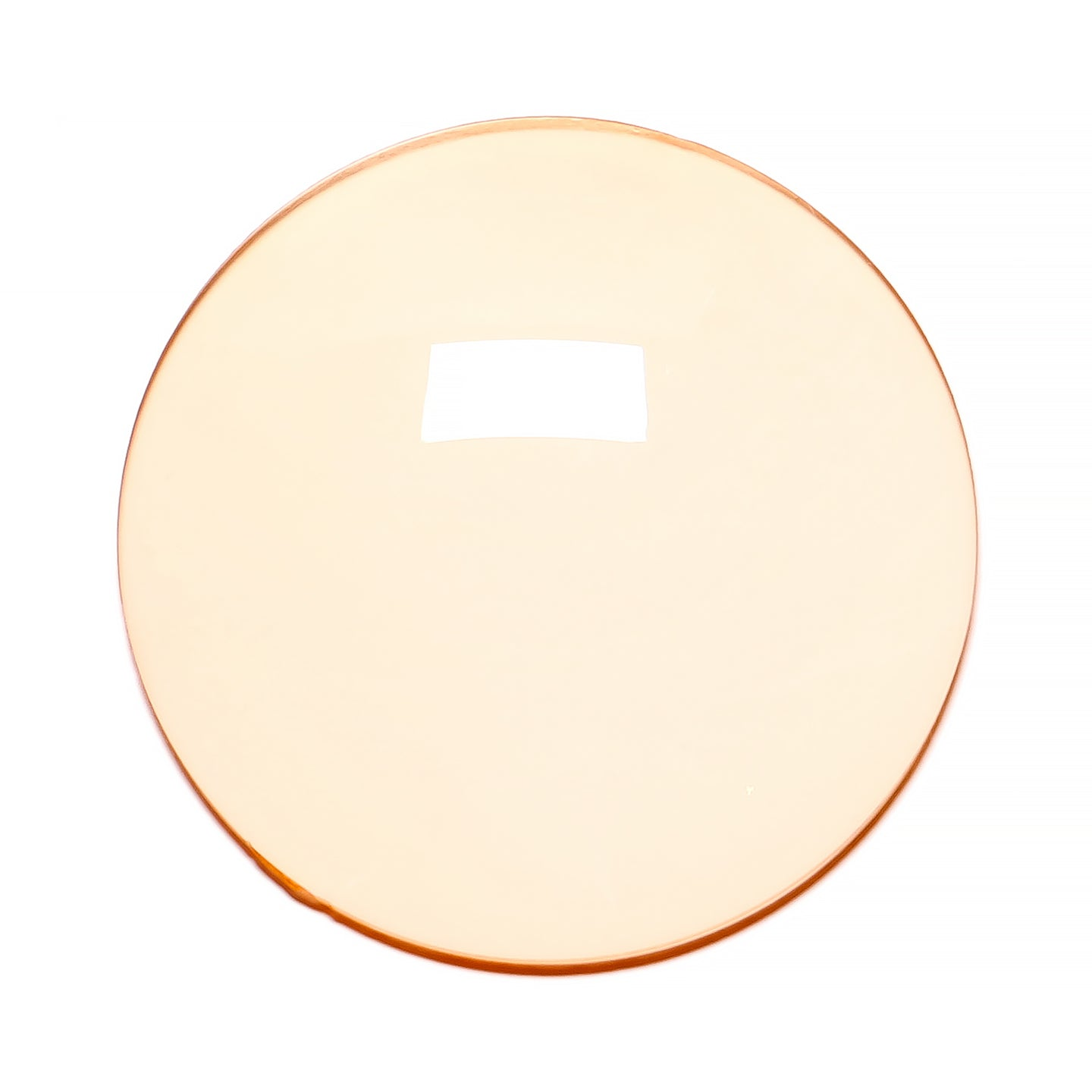007 - Light Orange Solid Regular Curve Lens