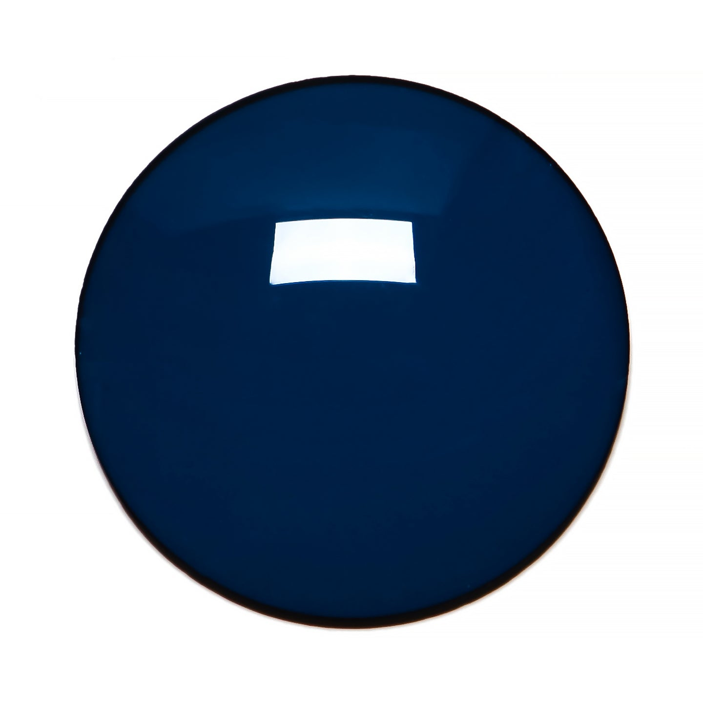 014 - Deep Blue Solid Regular Curve Lens