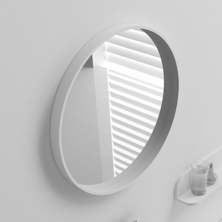MW-101 Wall Mounted Rectangular Mirror Shown Installed