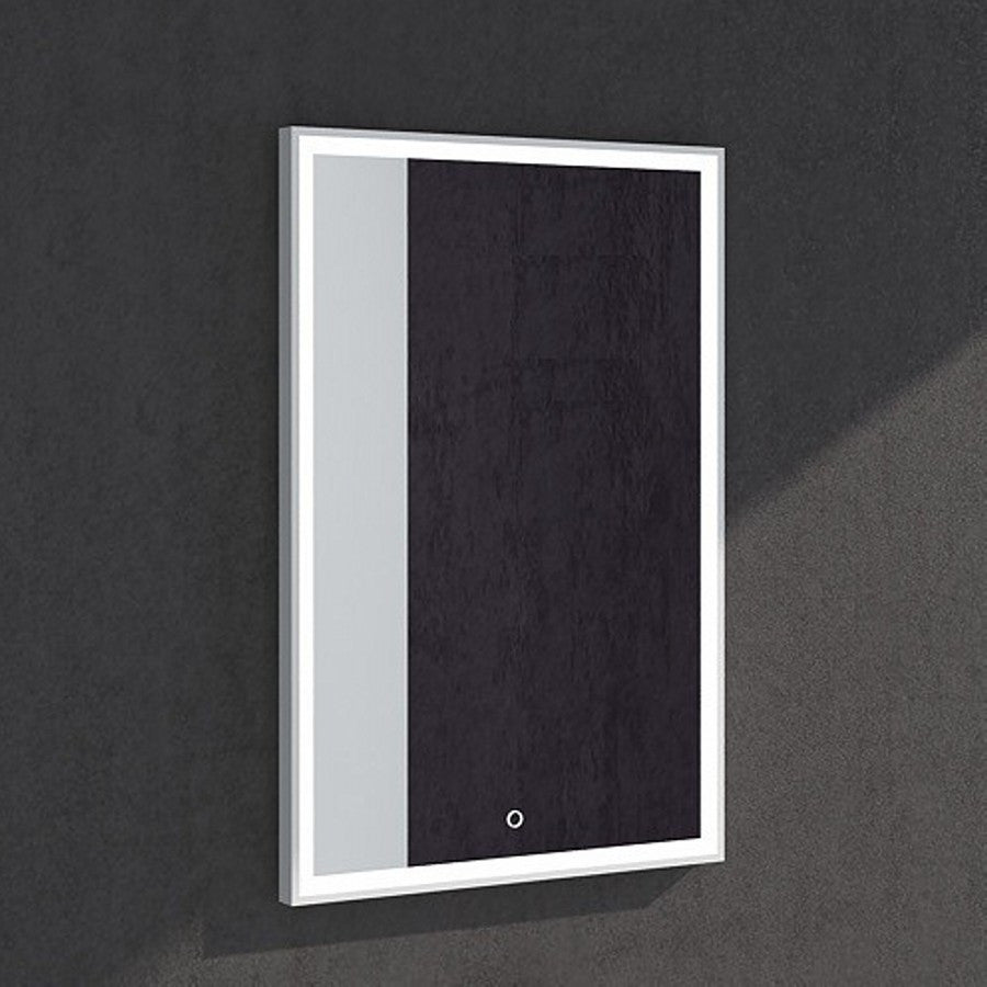MW-102A Wall Mounted Rectangular Mirror Shown Installed